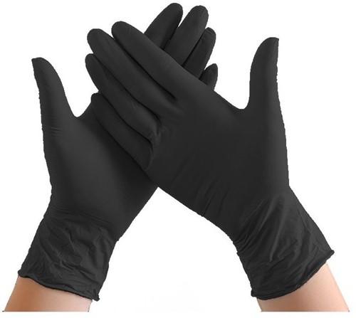 Handschoenen nitril - ongepoederd - maat M - per doos a 100 stuks