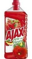 Ajax Allesreiniger fles 3 x 1,25 l fleurs rode bloem