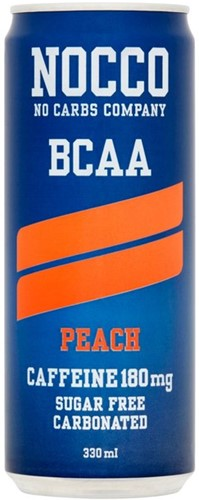 Nocco Peach BCAA blik 12 x 0,33 l