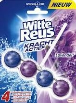 Witte Reus toiletblokhouder + 3 x vulling lavendel