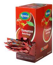 Remia tomatenketchup doos 150 sticks a 20 ml